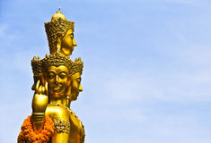 Brahman Shrine. Gold brahman shrine in clear sky Royalty Free Stock Photos