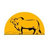 Brahmanu byka gór Boczny Przyrodni okrąg royalty ilustracja