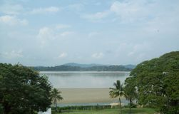 Brahmaputra River, Guwahati, India. The Brahmaputra is one of the major rivers of Asia, a trans-boundary river which flows through China, India and Bangladesh royalty free stock image