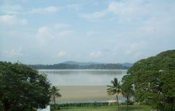 Brahmaputra River Guwahati, Indien Royaltyfri Bild