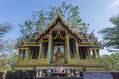 Brahmastandbeeld binnenshuis van verering Royalty-vrije Stock Afbeelding