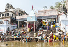 Brahmavart Ghat in Bithoor Immagine Stock