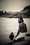 A Brahmin of Hampi, Karnataka, India Stock Photo