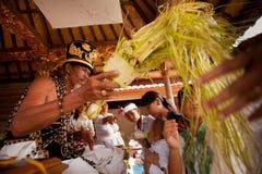 Brahmin during the Hindu ceremonies Royalty Free Stock Image