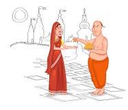 Brahmin Hindu couple Stock Image