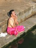 Brahmin Praying Royalty Free Stock Photo