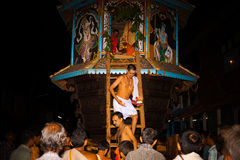 Brahmin Priest Exiting Ratha Gokarna Festival Stock Images