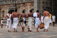 Brahmin priests enter the Nataraja temple Royalty Free Stock Photography
