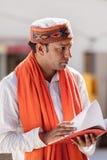 A Brahmin scholar Stock Photo
