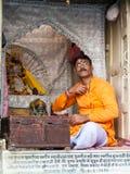 A brahmin in a shrine Royalty Free Stock Photos