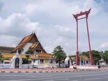 Brahmin swing under blue sky. Brahmin swing (Sao Chingcha) was under blue sky, Bangkok, Thailand Stock Photos