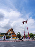 Brahmin swing under blue sky. Brahmin swing (Sao Chingcha) was under blue sky, Bangkok, Thailand Stock Photo