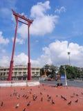 Brahmin swing under blue sky. Brahmin swing (Sao Chingcha) was under blue sky, Bangkok, Thailand Stock Image