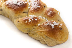 Braid Brioches. With sugar and chocolate chips Royalty Free Stock Photography