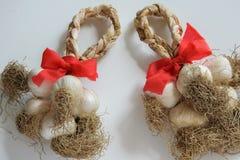 Braid of garlic stock photo