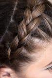 Braid girl close up Royalty Free Stock Image