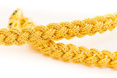 Braid gold bracelet Royalty Free Stock Photos