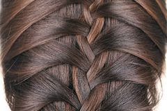 Braid hair. Royalty Free Stock Photography