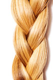 Braid Hairstyle. Blond Long Hair close up. Royalty Free Stock Image