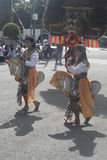 Braid horse dance performances in the Road Royalty Free Stock Photos