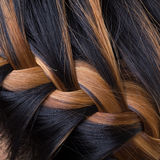 Braid long hair style Royalty Free Stock Photos