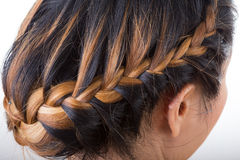 Braid long hair style Royalty Free Stock Photo