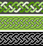 3 braid seamless border variations, vector illustration Royalty Free Stock Photos
