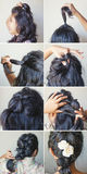 Braid tutorial by beauty blogger. Step by step braid tutorial by beauty blogger Royalty Free Stock Photos