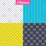Braid weave, diagonal lines seamless textures. Royalty Free Stock Photography