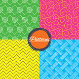 Braid weave, floral ornate seamless textures. Royalty Free Stock Photos