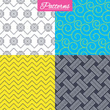 Braid weave, floral ornate seamless textures. Stock Photography