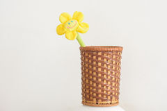 Braided barrel. Preparation barrels crafts,For holding small items of daily use , or viewing Royalty Free Stock Photos