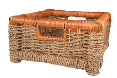 Braided basket. For keeping of the things Royalty Free Stock Image