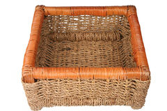 Braided basket. For keeping of the things Stock Photo