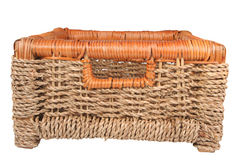 Braided basket. For keeping of the things Royalty Free Stock Photography