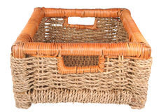 Braided basket. For keeping of the things Royalty Free Stock Images