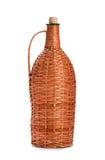 Braided bottle. Isolated on white background royalty free stock image