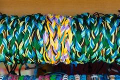 Braided bracelets. Background Stock Image