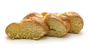 Braided bread isolated Stock Photo