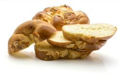 Braided bread isolated Royalty Free Stock Photography