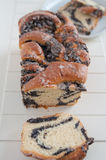 Braided bread with poppy seeds Stock Image