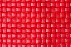 Braided bright red leather texture. High resolution photo Stock Image