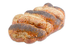 Braided Bun With Poppy Seeds And Sesame Seeds Royalty Free Stock Images