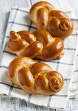 Braided buns Royalty Free Stock Photo