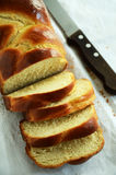 Braided challah bread shaped rectangular Royalty Free Stock Image