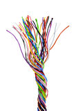 The braided color computer cable Stock Photography