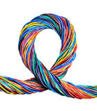The braided color computer cable Stock Photo