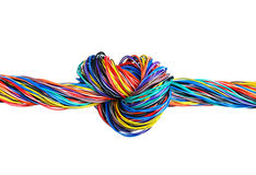 The braided color computer cable Royalty Free Stock Photo