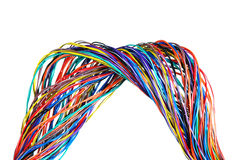 The braided color computer cable Royalty Free Stock Photos