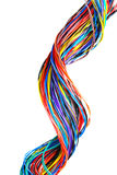 The braided color computer cable Stock Image